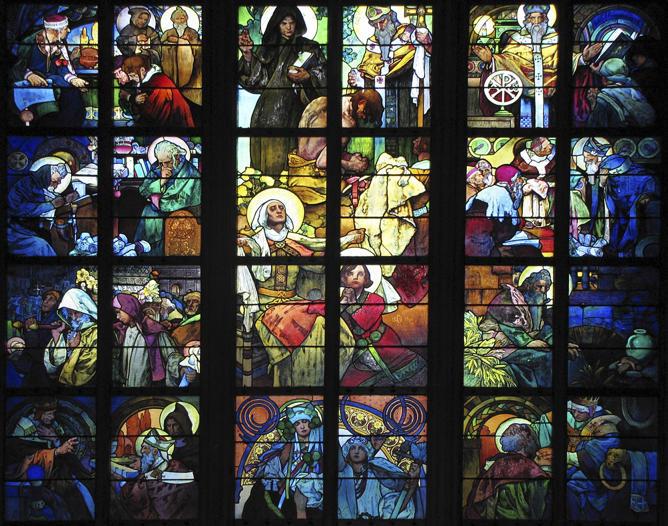 Alphonse Mucha, Cyril and Methodius window
