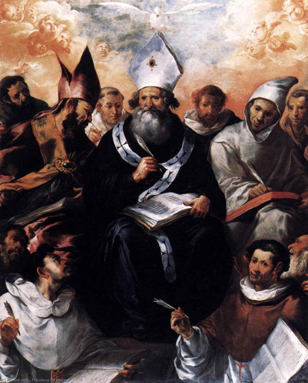 Francisco de Herrera the Elder, St. Basil Dictating his Doctrine