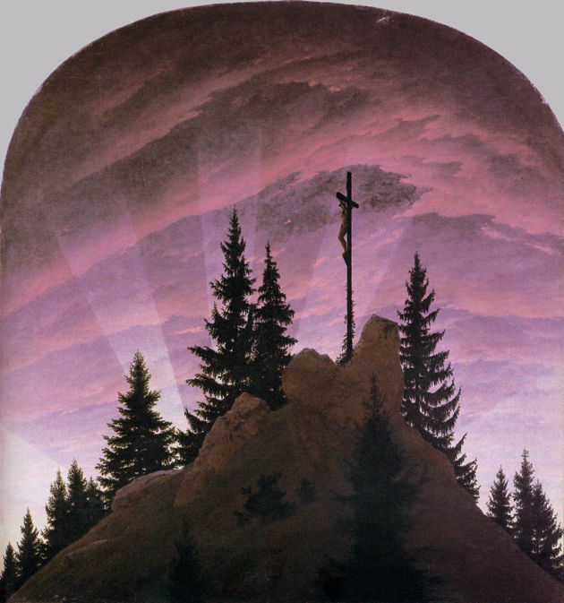 Caspar David Friedrich, Cross in the Mountains