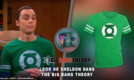 Look de Sheldon Cooper dans The Big Bang Theory ( t-shirt green lantern )