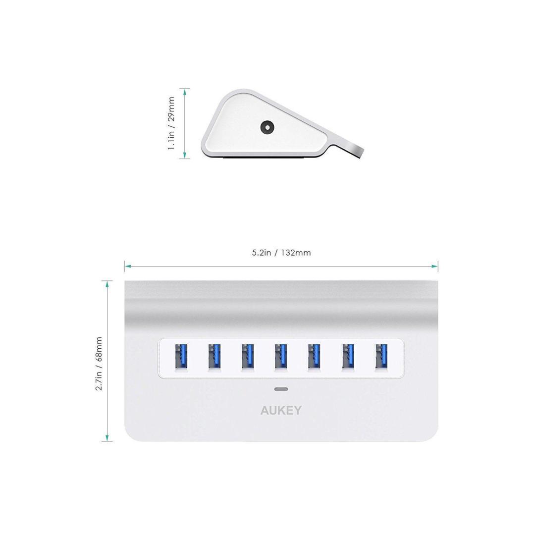 image article Test Aukey hub USB 7
