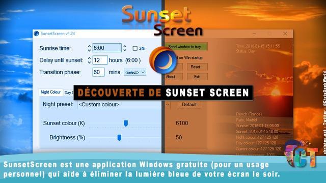 Découverte de Sunset Screen pour filtrer la lumière bleue des écrans