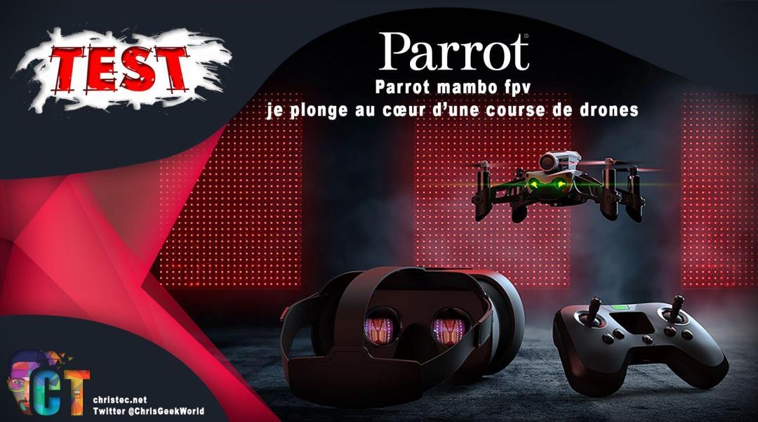 image en-tête Test Parrot mambo fpv