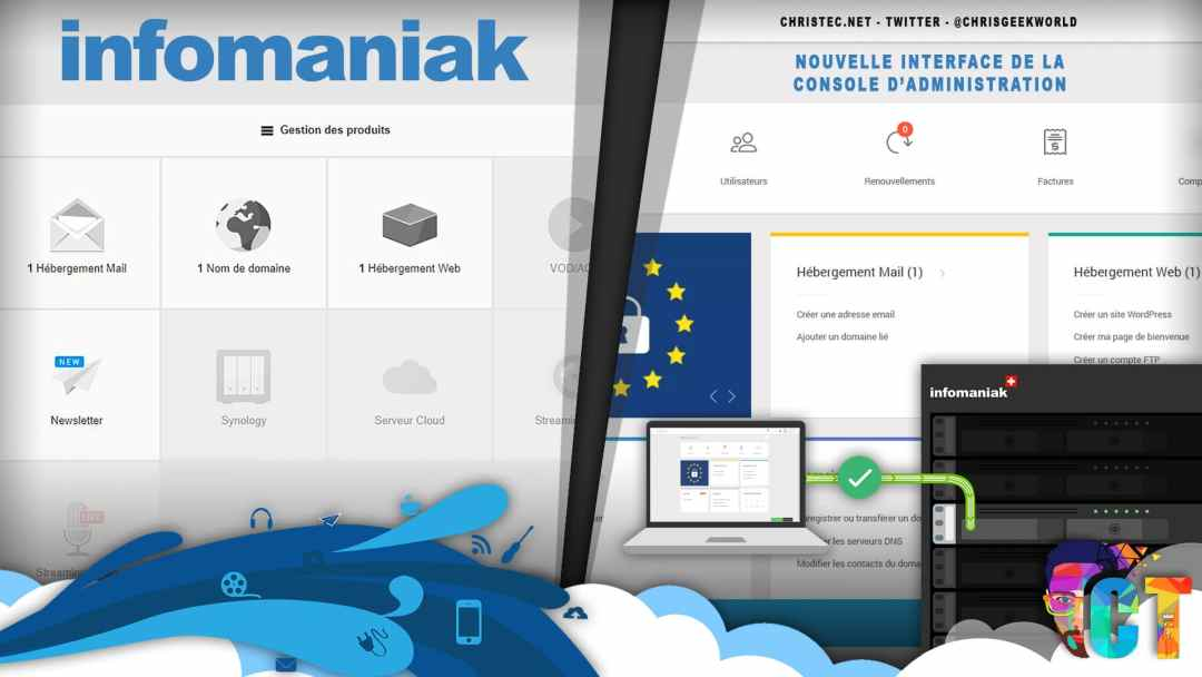 Infomaniak, nouvelle interface de la console d'administration ( actuellement en bêta )