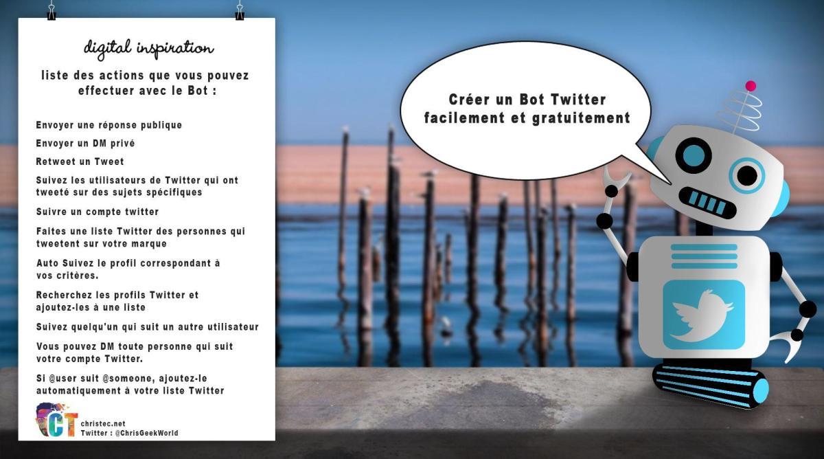 Créer un Bot Twitter facilement et gratuitement (Bot RT, Follow, DM, Liste, Réponse automatique...)