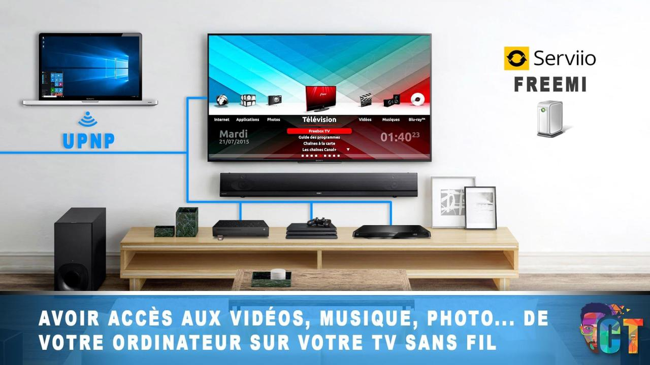 Afficher vos films, vos images et vos musiques sur votre TV depuis votre ordinateur en UPnP