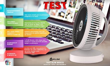 Test du ventilateur de bureau USB KLIM Breeze ( silencieux et ajustable )