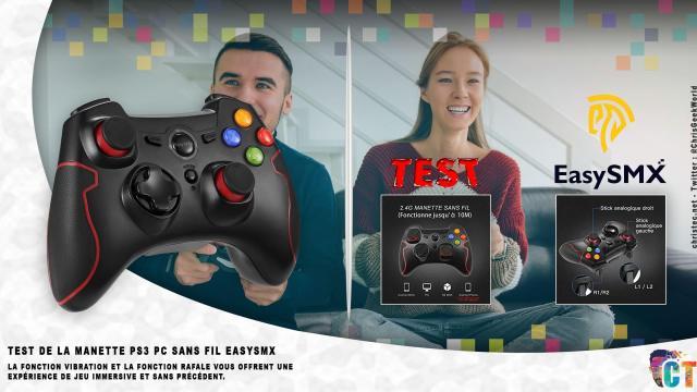 Test de la manette sans fil pour PS3 et PC de EasySMX modèle: ESM-9013