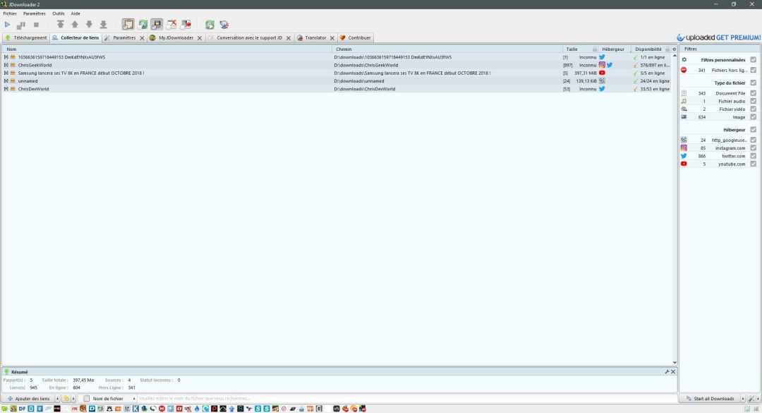 Présentation de Jdownloader 2 le meilleur gestionnaire de