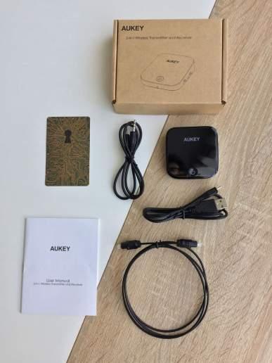 image test du transmetteur, émetteur et récepteur Bluetooth de Aukey 2