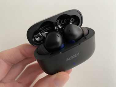 image Écouteurs Bluetooth AUKEY EP-T27 avec aptX, 4 microphones, réduction de bruit CVC 8.0, étanchéité IPX7 5
