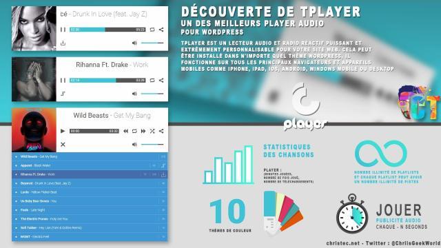 Découverte de tPlayer un des meilleurs player audio pour WordPress