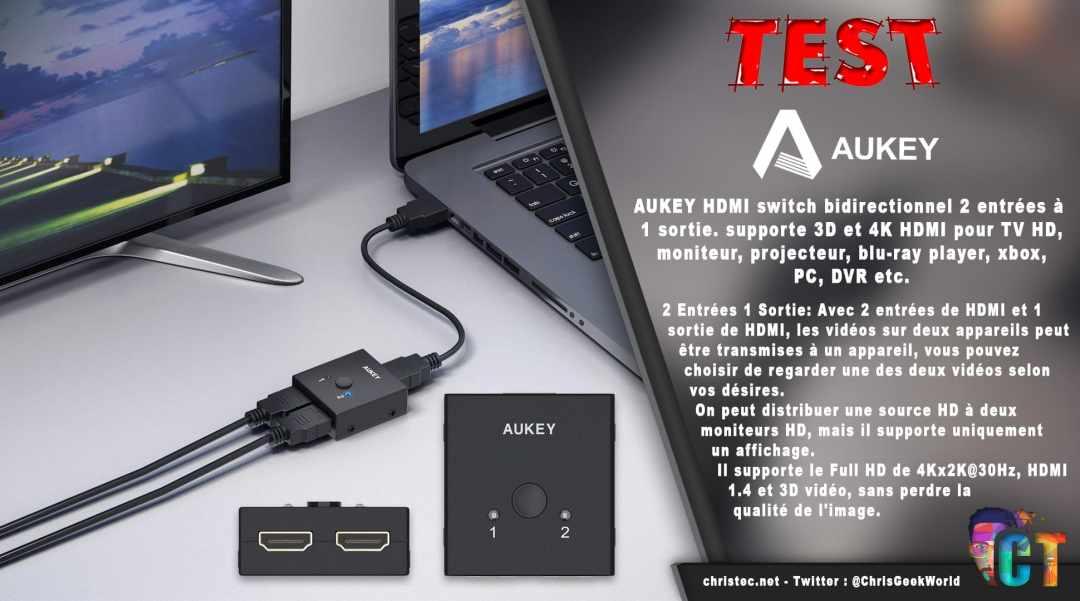 image en-tête Test du switch HDMI bidirectionnel AUKEY