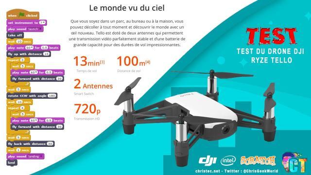 Test du drone DJI Ryze Tello, le meilleur drone d'entrée de gamme