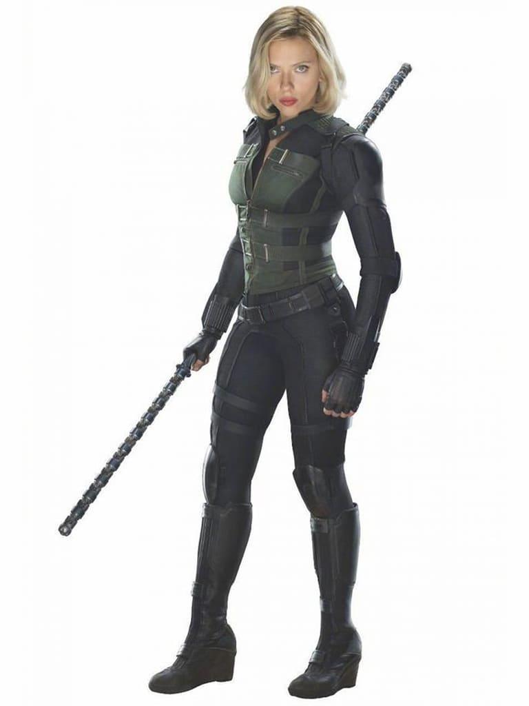 """image Look de """"Black Widow"""" Natasha Romanoff dans Avengers Infinity War (Combinaison et Veste) 3"""