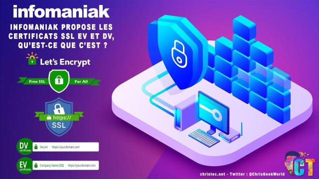 Infomaniak propose les certificats SSL EV et DV, mais qu'est-ce que c'est?