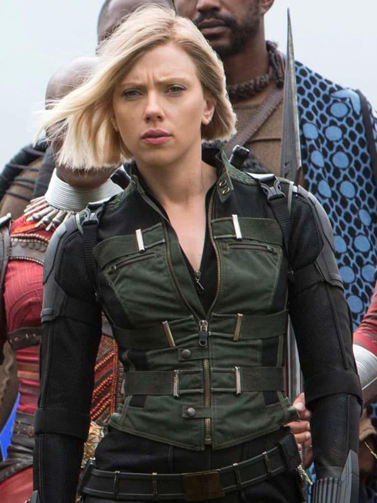 """image Look de """"Black Widow"""" Natasha Romanoff dans Avengers Infinity War (Combinaison et Veste) 5"""