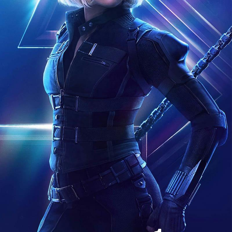 """image Look de """"Black Widow"""" Natasha Romanoff dans Avengers Infinity War (Combinaison et Veste) 19"""