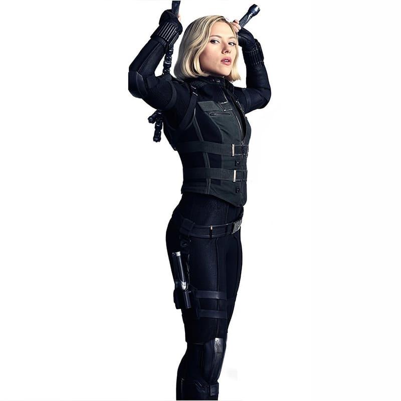 """image Look de """"Black Widow"""" Natasha Romanoff dans Avengers Infinity War (Combinaison et Veste) 21"""