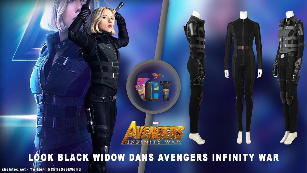 """Look de """"Black Widow"""" Natasha Romanoff dans Avengers Infinity War (Combinaison et Veste)"""