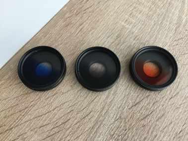 image Test du kit de 3 lentilles Aukey à filtre dégradé gris, bleu, et orange pour smartphone 4