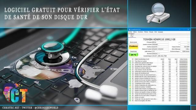 Logiciel gratuit pour vérifier l'état de santé de son disque dur