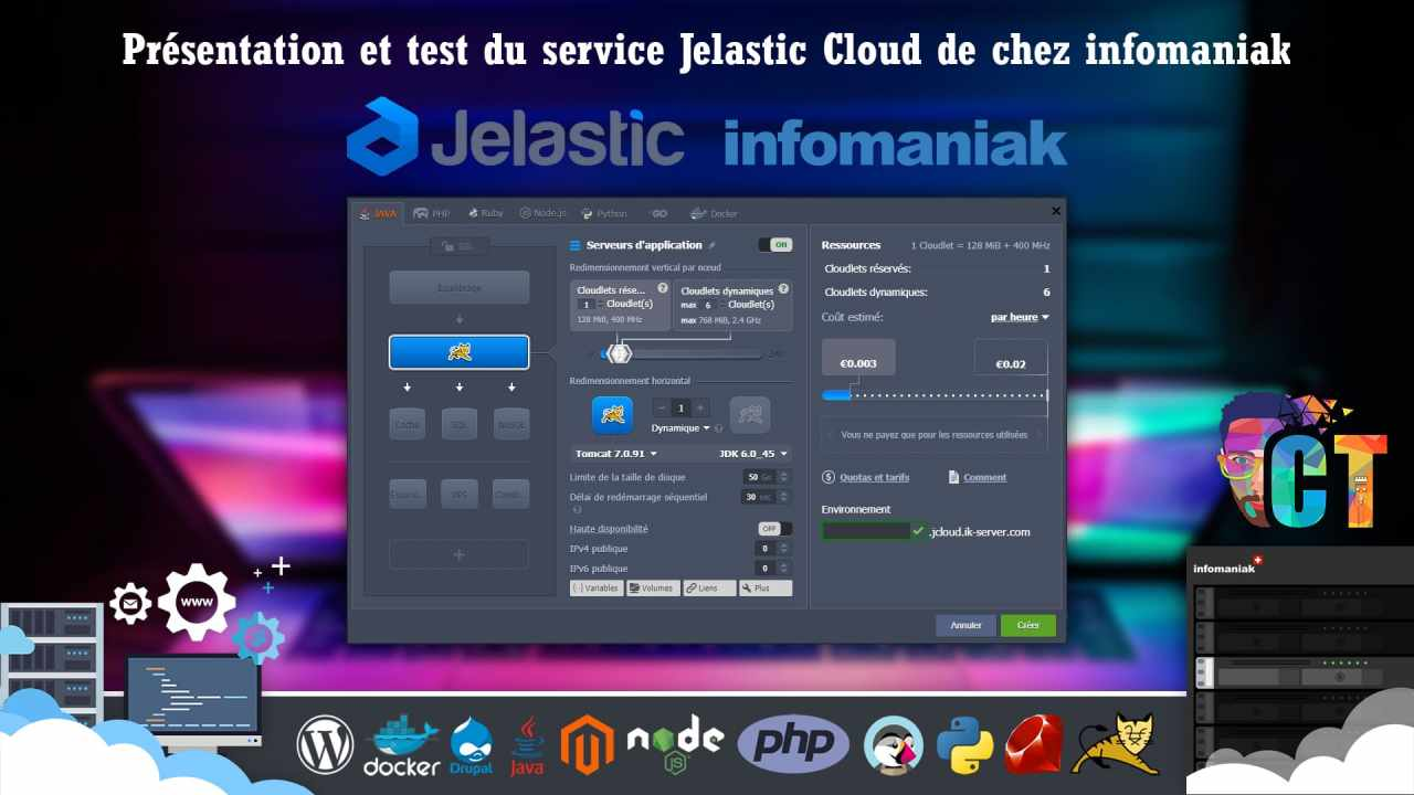 Jelastic Cloud chez Infomaniak, découverte et installation de WordPress