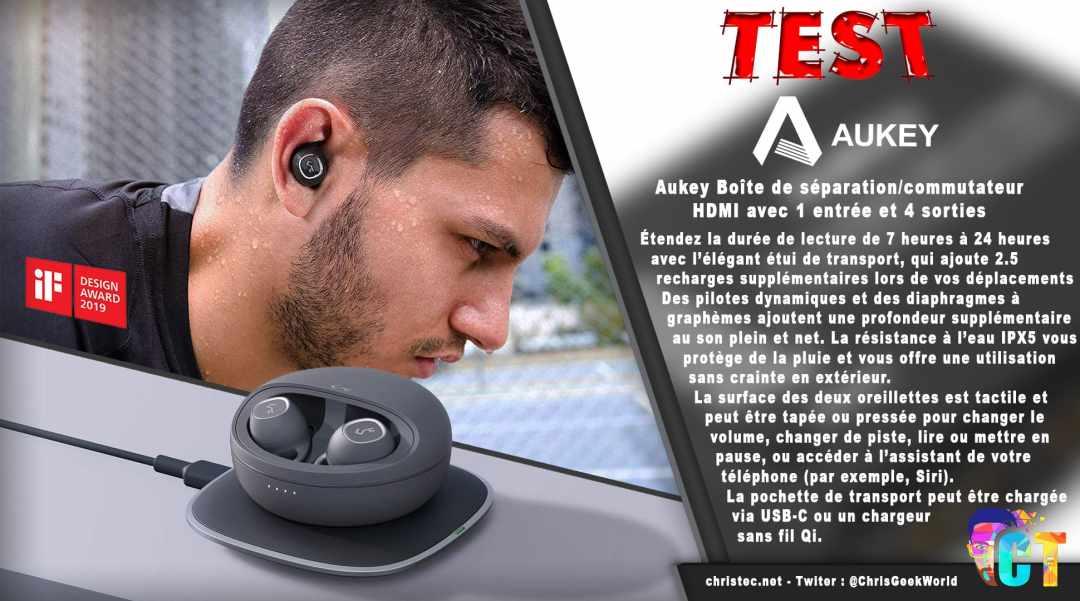 image en-tête Test des écouteurs true wireless Key Series de Aukey