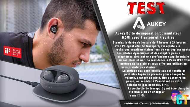 Test des écouteurs true wireless Key Series de Aukey