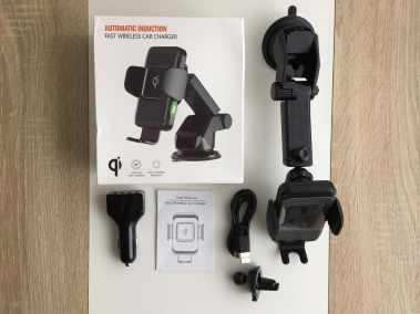image Test d'un support de smartphone pour voiture avec chargeur sans fil 3