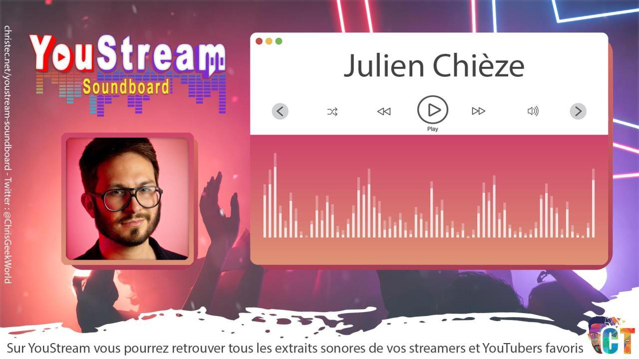YouStream Julien Chièze
