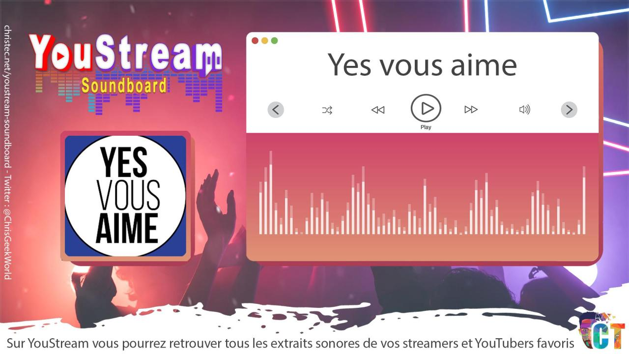 YouStream Yes vous aime