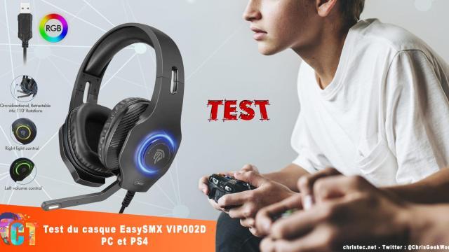 Test du casque gaming EasySMX avec micro, Son Surround 7.1 et Led RGB pour PC, PS4…