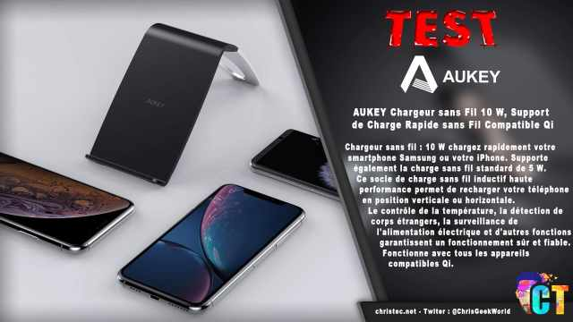 Test du support et chargeur sans fil QI Aukey pour smartphone