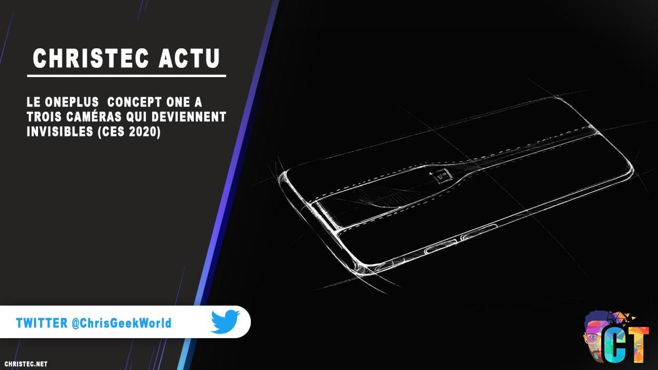 Le OnePlus Concept One a trois caméras qui deviennent invisibles (CES 2020)