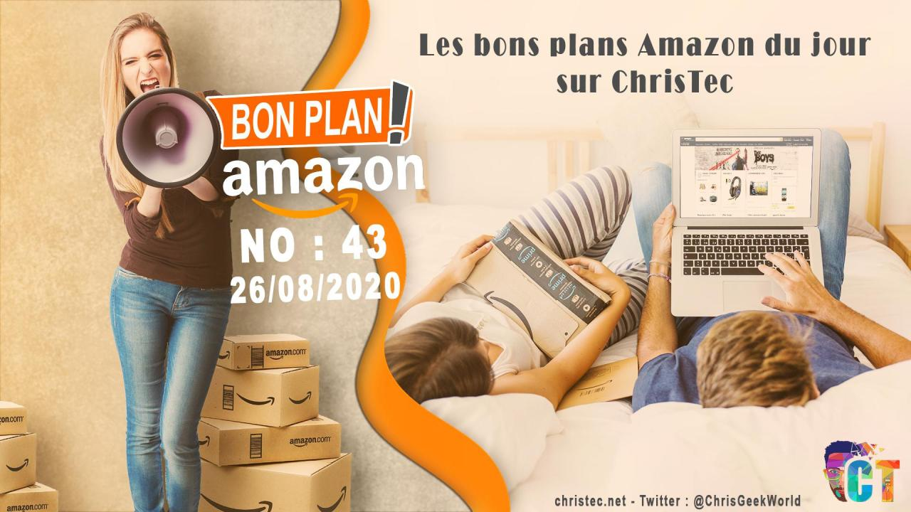 image en-tête Bons Plans Amazon (43) 26 / 08 / 2020