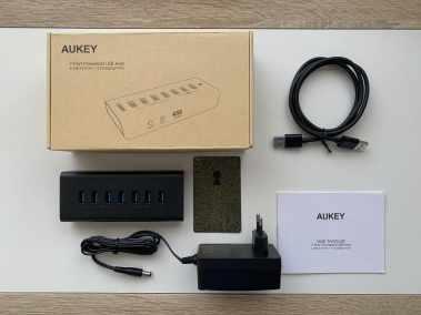 image Test du hub Aukey avec 7 connectiques USB 3.0 et charge rapide 3