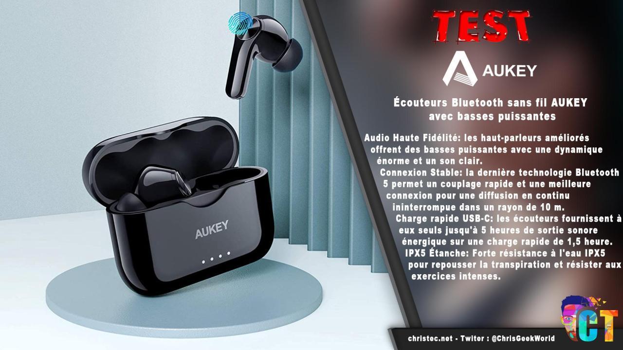 image en-tête Test des écouteurs Bluetooth Aukey EP-T28 avec des basses puissantes