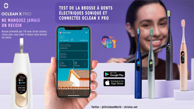 Test de brosse à dents électrique connectée Oclean X Pro, avec écran tactile !!