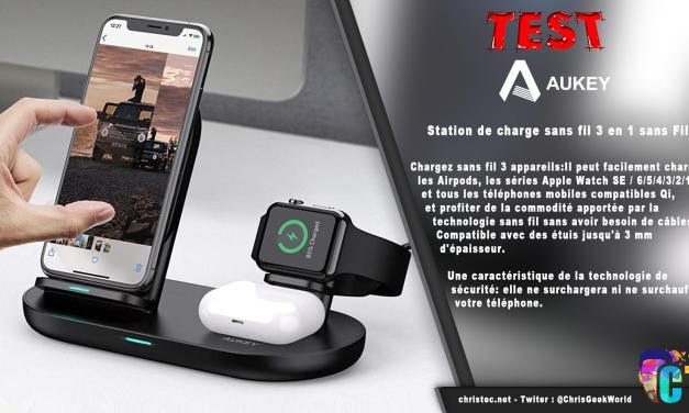 Test de la station de charge sans fil 3 en 1 Aukey, Iphone, Watch, AirPods