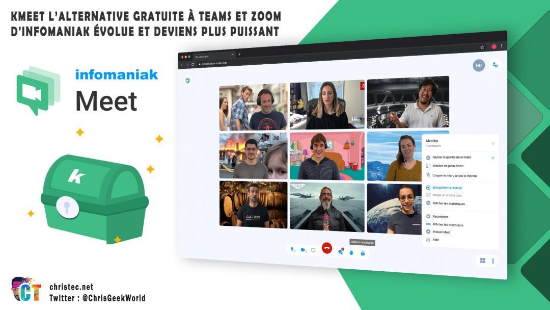 image en-tête kMeet l'alternative gratuite à Teams et Zoom d'Infomaniak évolue et deviens plus puissant
