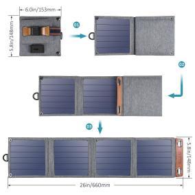 image Concours twitter pour gagner un chargeur solaire pliable Choetech de 14W 5