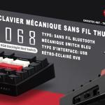 Test du clavier mécanique sans fil bluetooth ThundeRobot KC3068