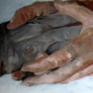 Hände 50x50cm Öl/LW 2011