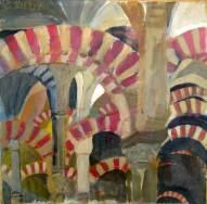 La Mezquita,Cordoba 45x45cm Acryl/LW 1995