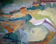 Südliche Landschaft Acryl/LW 80x100 cm 2000
