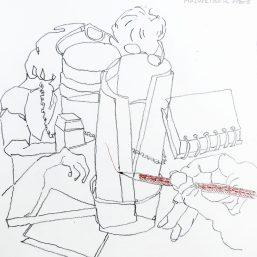 Bleistiftzeichnung 21x21 2012