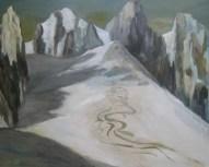 Spuren im Schnee 80x100cm Öl/LW 2012