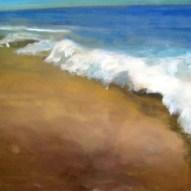Einsamer Strand Acryl/LW 100x120cm 2010
