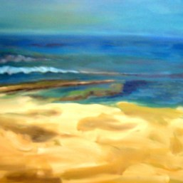Weg uebers Meer, 70x100cm, Acryl/LW, 2010